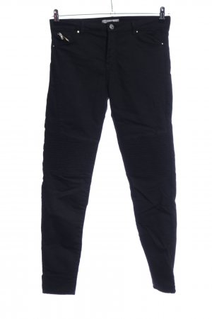 Bershka Pantalón de cinco bolsillos negro look casual