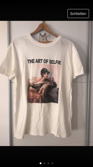 Bershka Print Shirt white
