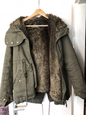 Bershka Fake Fur Coat multicolored