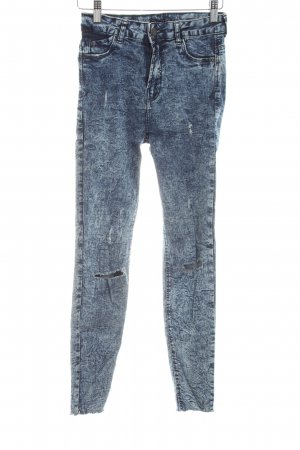 Bershka High Waist Jeans blue casual look