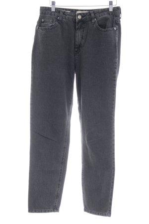 Bershka High Waist Jeans anthrazit-grau Casual-Look
