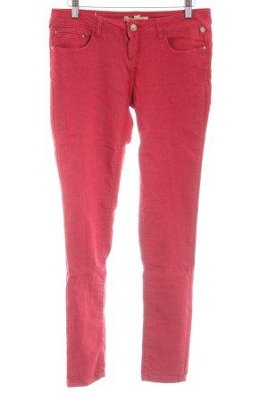 Bershka High Waist Jeans rot Casual-Look