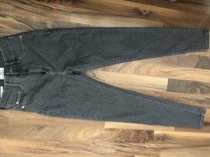 Bershka Hoge taille jeans grijs