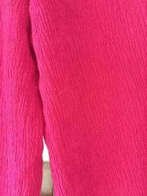 Bershka 3/4 Length Trousers raspberry-red polyester