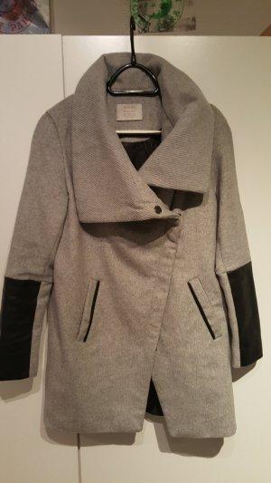 Bershka Long Jacket grey