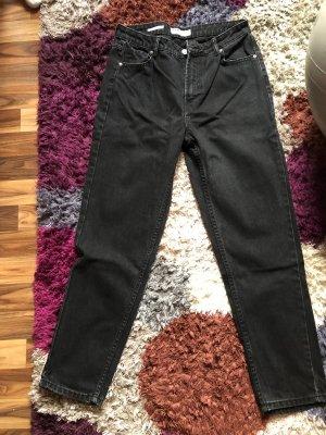 Bershka Pantalon boyfriend noir