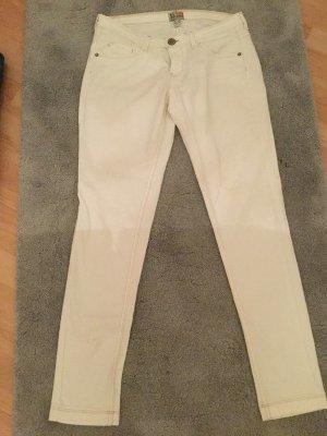 Bershka Jeans Gr. 40 weiss Top