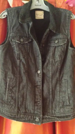Bershka Denim Vest black