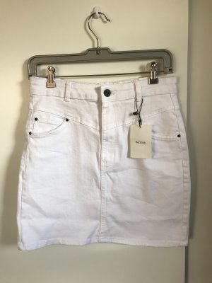 Bershka Jupe en jeans blanc coton