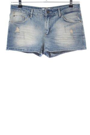Bershka Pantaloncino di jeans blu stile casual