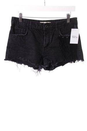 Bershka Jean Shorts Black