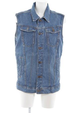 Bershka Jeansweste blau Jeans-Optik