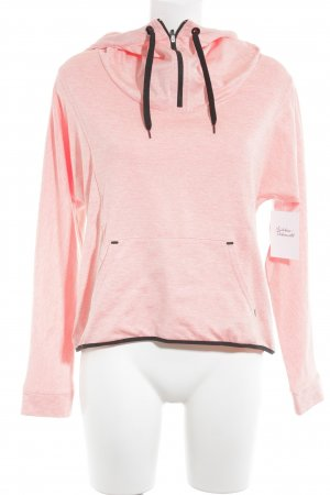 Bershka Sweat à capuche orange fluo-noir style athlétique