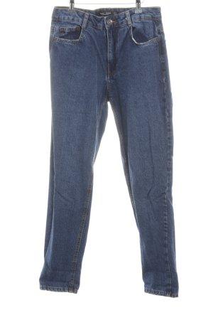Bershka Wortel jeans neon blauw casual uitstraling