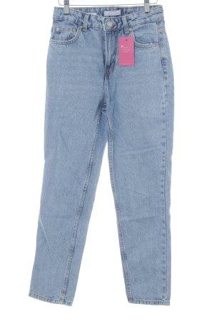 Bershka Jeans carotte bleu azur style décontracté