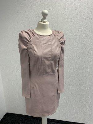 Bershka-Kleid in rose' -Leder Optik-Neuwertig