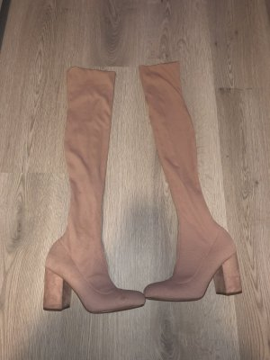 Bershka Lace-up Boots rose-gold-coloured