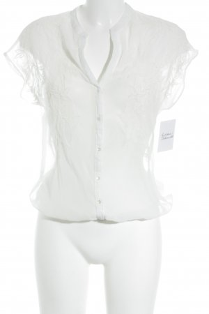 Bershka Kurzarm-Bluse weiß Elegant
