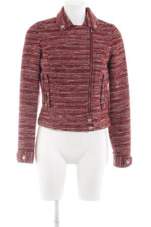 Bershka Kurzjacke rot-weiß Streifenmuster Casual-Look