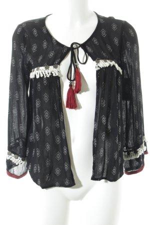 Bershka Blusa de manga larga estampado azteca look Boho