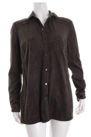 Bershka Langarm-Bluse dunkelgrün