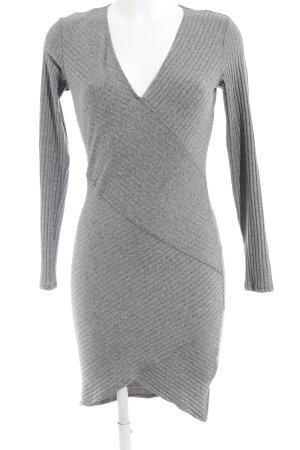Bershka Robe à manches longues gris moucheté style décontracté