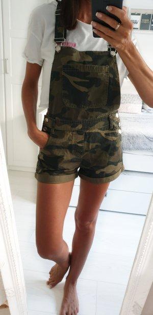 Bershka Latzhose Camouflage