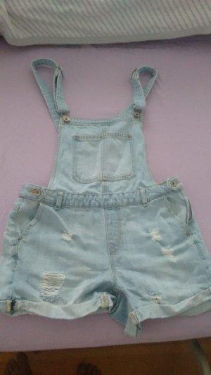Bershka Latzhose Shorts Jeans