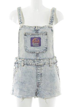 Bershka Jeans met bovenstuk wolwit-donkerblauw Jeans-look