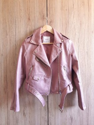 Bershka Leather Jacket multicolored