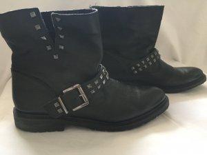 Bershka Botas de tobillo negro