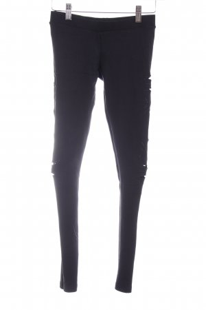 Bershka Leggings negro estampado étnico look casual