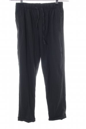 Bershka Linen Pants black casual look