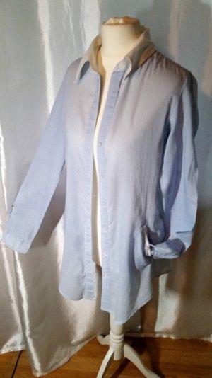 Bershka Longbluse gestreift blau / weiß Gr S neuwertig