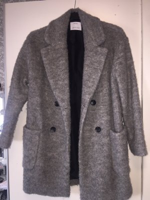 0fcd43d9e11 Bershka Winter Coat silver-colored-light grey