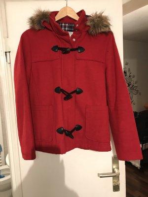 Bershka Manteau à capuche rouge
