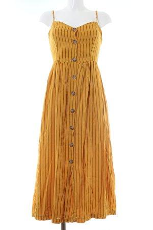 Bershka Maxi-jurk licht Oranje-zwart gestreept patroon casual uitstraling