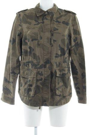 Bershka Military Jacket camouflage pattern distressed style