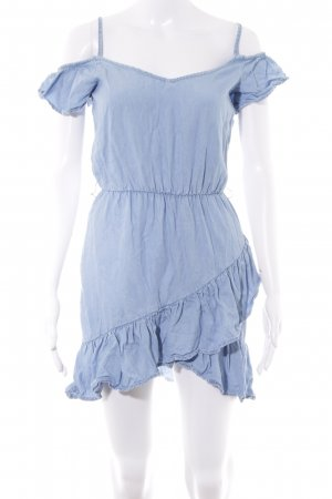 Bershka Minikleid himmelblau Casual-Look