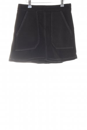 Bershka Minirock schwarz schlichter Stil