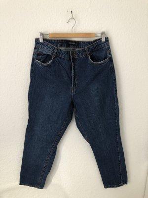Bershka Mom Jeans Blau