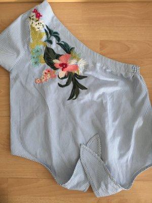 Bershka Camisa de un solo hombro multicolor Poliéster
