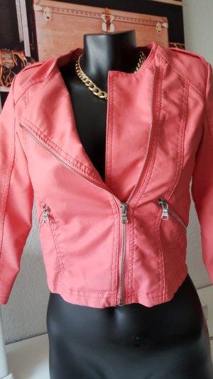 Bershka outerwear Kurzjacke aus weichem Lederimitat S