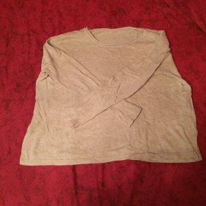 Bershka oversized Pulli beige