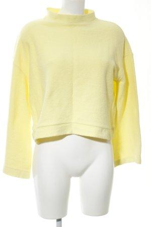 Bershka Oversized Pullover blassgelb Casual-Look