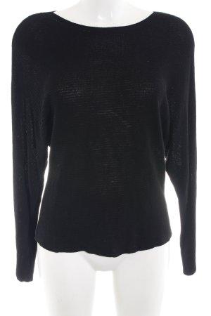 Bershka Oversized Pullover schwarz Kuschel-Optik