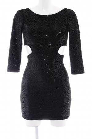 Bershka Pailettenkleid schwarz Elegant