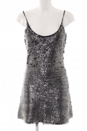 Bershka Sequin Dress silver-colored flecked extravagant style