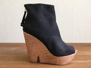 Bershka Peeptoe Wedge Booties