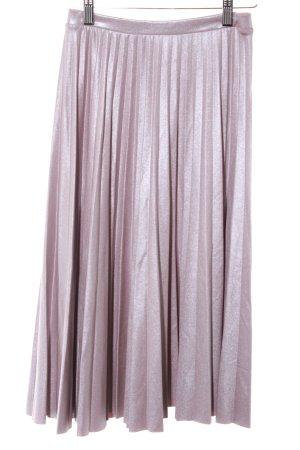 Bershka Pleated Skirt mauve wet-look